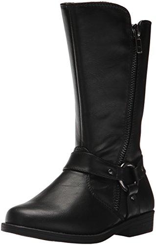 Rachel Shoes Girls' Lil Northfield Fashion Boot, Black Smooth, 10 M US Toddler