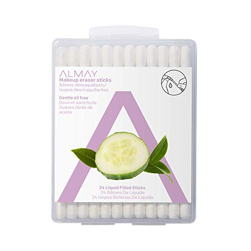 Almay Oil Free Makeup Eraser Sticks , Hypoallergenic Makeup Remover, Free from Fragrance, 24 sticks
