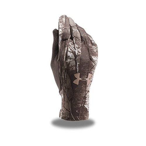 Under Armour Women's Scent Control Liner Gloves, Realtree Ap-Xtra (946)/Metallic Beige, X-Large