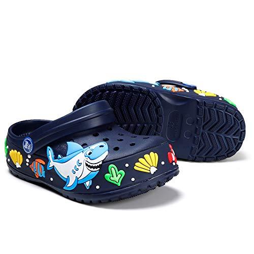 - Clogs for Boys Girls Classic Comfort Slip On Casual Water Shoe Beach Pool Lightweight Beach Slipper Navy