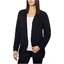 Kensie Womens Open Front Eyelash Cardigan