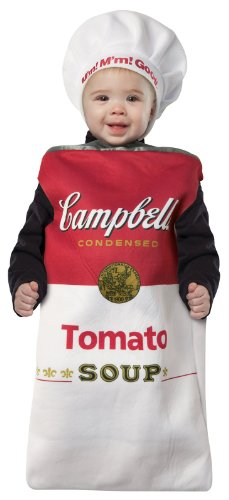 [Rasta Imposta Campbell's Tomato Soup Can Bunting, Red/White, 3-9 Months] (Childrens Food Halloween Costumes)