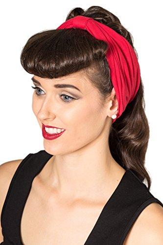 Banned No Talking Vintage Retro Headband - Red af303ef6ee9