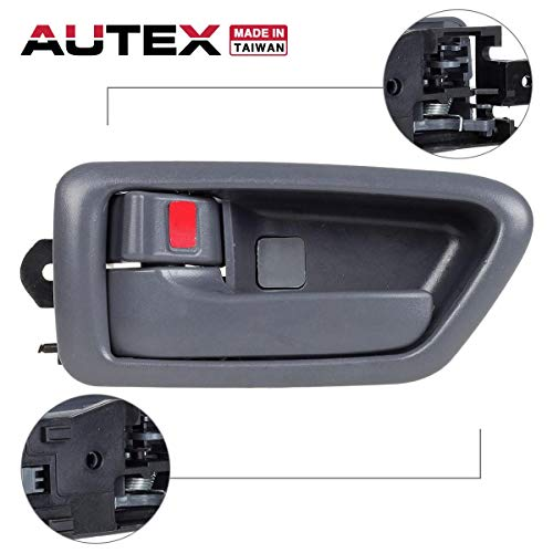(AUTEX 91002/91006 Grey Interior Door Handle Front/Rear Left Driver Side Compatible with Toyota Camry 1997 1998 1999 2000 2001 TO1310114,)