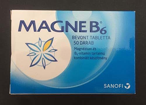 Magne B6 Magnesium SANOFI 48mg Magnesium+5mg Vitamin B6 50 Tablets