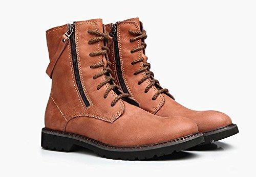 caldi invernale dal 43 caldo con Stivali stivali da temperamento uomo orange 46a8A