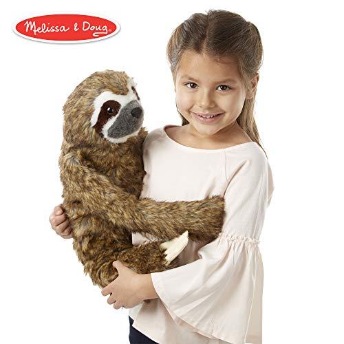 Melissa & Doug Lifelike Plush Sloth Stuffed Animal (12W x 14.5H x 9D in) (Doug Plush Animal)