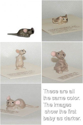 Hagen Renaker Mouse Family of Five, including Mama, Papa, Brother and Two Babies