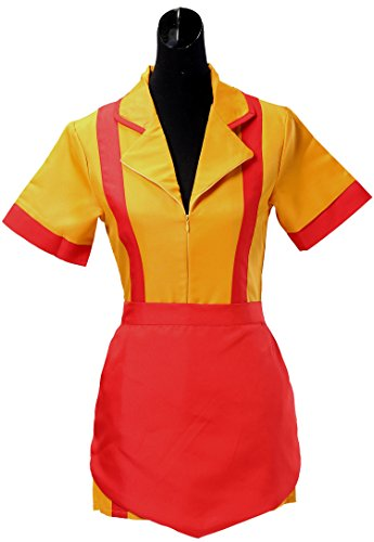 Women Waitress Uniform Cosplay Fancy Dress Party Costume