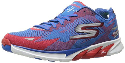 Skechers Performance Women's Go Run 4 Houston 2016 Running Shoe, Red/Blue, 9.5 M US