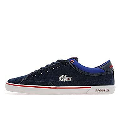 Lacoste Angha DSC Navy Blue/Dark Blue/Red/Canvas Mens (UK 12