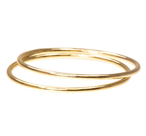 uGems 2 14K Gold Filled Stacking Rings 1mm Round