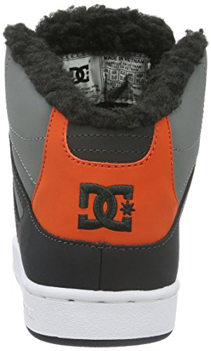 DC Shoes Rebound Wnt, Zapatillas Altas para Niños Gris (Grey / Black / Orange)