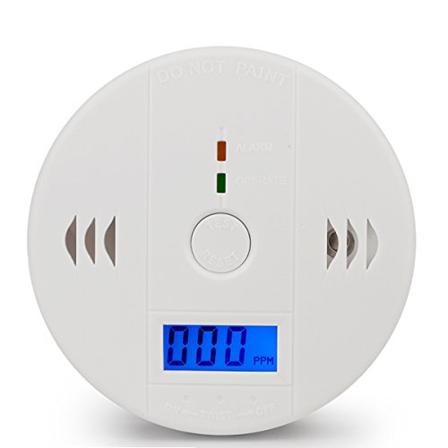 Co Detector (Carbon Monoxide Detector Alarm Pack 2, CO Gas Sensor Detector with Digital Display Alarm Clock Warning for Home (3 AA Battery not included) (Pack 1))