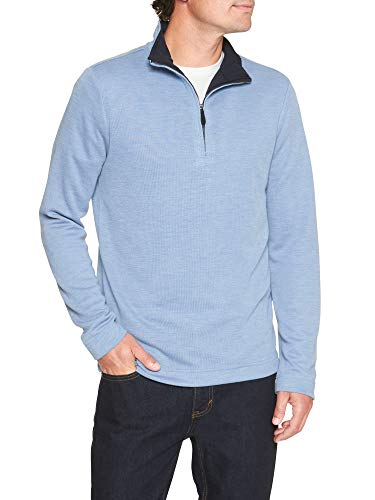 Republic Banana Sweater Men (Banana Republic Men's Brushed Half-Zip Pullover, Navy (M))