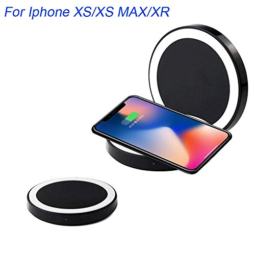 Price comparison product image Iphone XS Wireless Charger, Lovewe Portable Ultra-thin Qi Wireless Charger Power Charging Pad For Iphone XS / XS Max / X Compatible for Samsung Galaxy Note 9 iPhone 8 / iPhone 8 Plus And More (White)