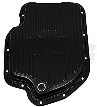 DEEP SUMP Compatible//Replacement for CHEVY//GM TURBO TH-400 STEEL TRANSMISSION PAN BLACK