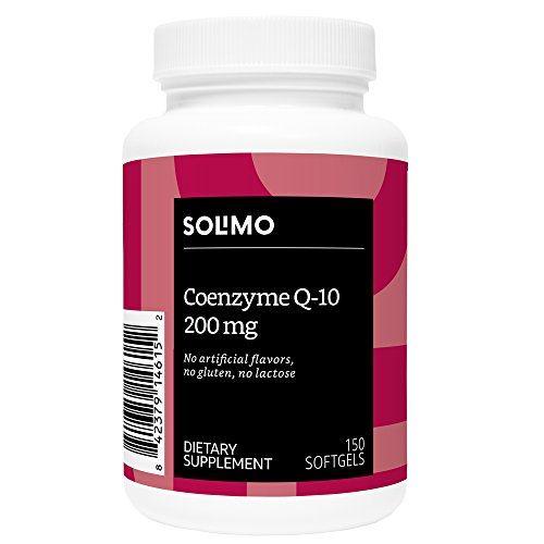 Amazon Brand – Solimo Coenzyme Q-10 200mg, 150 Softgels, Five Month Supply