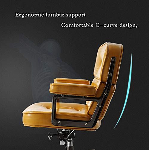 LIYANJJ Vardagsrum svängbara skalstolar, PU justerbar rulluppgift stol modern fritid arm stol säte yta lyft förstärkt stålbas för barberare kontor hem dator