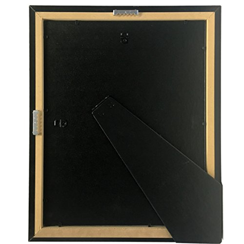 Creative Picture Frames CreativePF [11x14mh.gd] Mahogany Frame with Gold Rim, Black Matting Holds 8.5 by 11-inch Diploma with Easel and installed Hangers (12-Pack) by Creative Picture Frames (Image #6)
