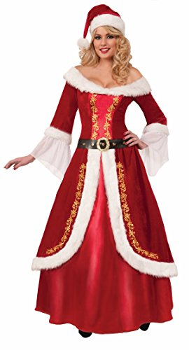Forum Novelties Women's Premium Classic Mrs. Claus Costume, Multi, One Size (Mrs Claus Plus)