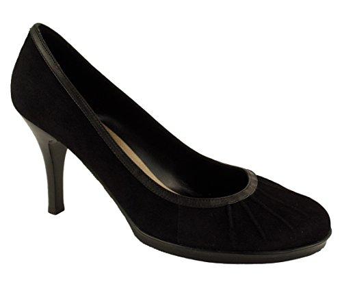 Dani Noir Femmes Nani Daim Plateforme Pompe Chaussures Noir