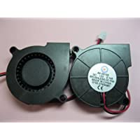 2 pcs Brushless DC Blower Fan 5015S 12V 2 Wires 50x50x15mm Sleeve-bearing Skywalking