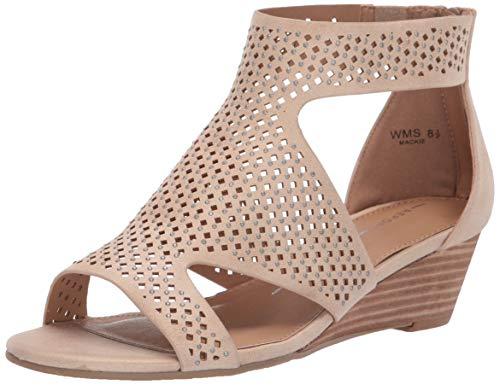 Report Women's Mackie Wedge Sandal, Natural, 9 M -