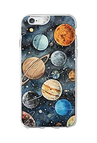 Colorful Space Planets Galaxy S8 Plus Case Bigger Screen Cartoon Moon Earth Outer Space Theme S8 Plus Cover Galaxy Stars Spaceships Phone Back Case Girls Boys Stylish Fashion Painting Slim Soft TPU