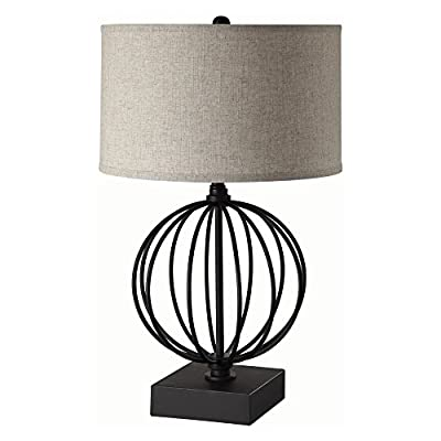Coaster Company of America 902966 Table Lamp - Dimensions: 16W x 16D x 26.5H in. Base made of metal Black finish - lamps, bedroom-decor, bedroom - 41EMvWWl45L. SS400  -