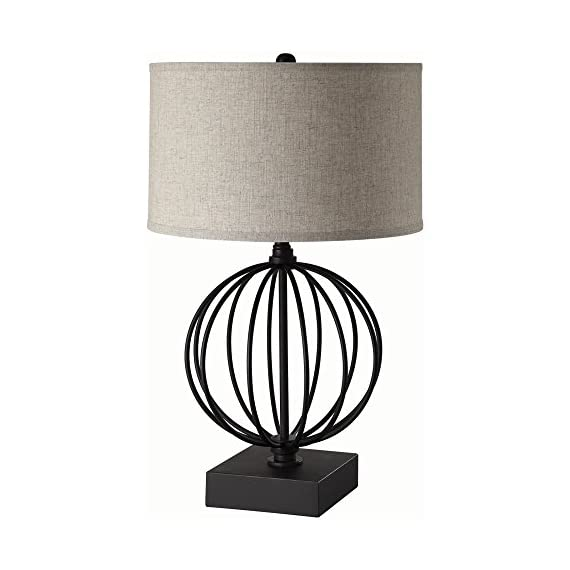 Coaster Company of America 902966 Table Lamp - Dimensions: 16W x 16D x 26.5H in. Base made of metal Black finish - lamps, bedroom-decor, bedroom - 41EMvWWl45L. SS570  -