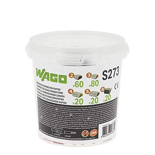 WAGO Seau de 200 bornes de connexion automatique S273 2,3,4,5 et 8 entr/ées