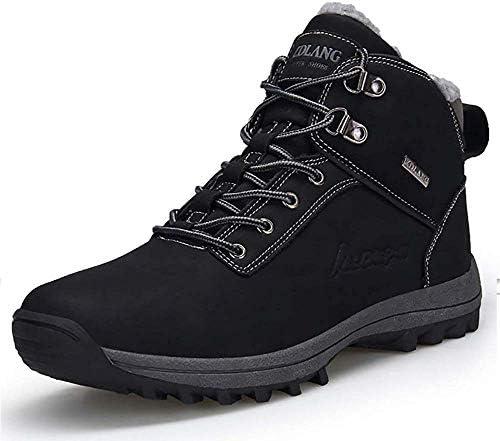冬の靴の足首のブーツは完全に毛皮を温めメンズスノーブーツ、ウォーキング、トレッキング、ハイキング、屋外、都市のためのアンチスリップ軽量安全作業ブーツを裏地