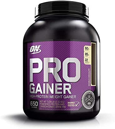 Optimum Nutrition Pro Gainer Weight Gainer Protein Powder,Double Rich Chocolate, 5.09 Pounds Packaging May Vary