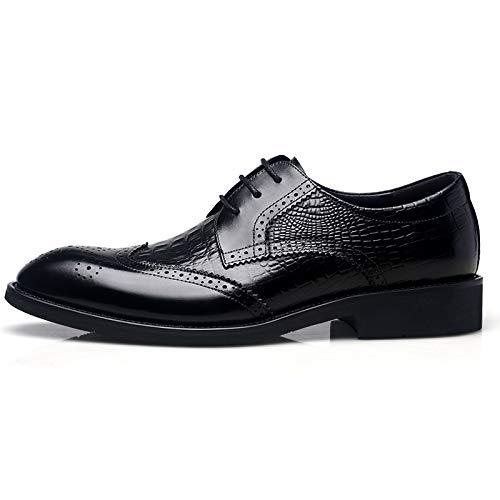 Oficina Vestido Trabajo Elegante Los Cuero Real Gansouy Zapatos Cordones Negro Vintage De Novia Hombres Bajos Business Con Derby Brogue Oxfords Brown A Formal SWzRHFqXz
