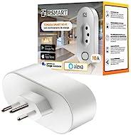 Tomada Inteligente Smart Plug Wi-Fi RSmart 10A Ligue ou Desligue seus Eletrodomésticos Através do Celular Comp