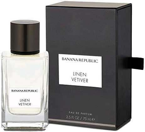 Linen Vetiver by Banana Republic Eau De Parfum 2.5 oz 75 ml Icon Collection