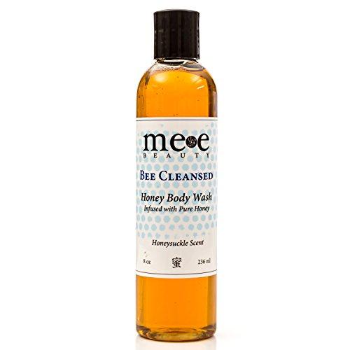Moisturizing Body Wash and Shampoo for Dry Sensitive Skin - Organic Aloe Vera , Green Tea , Honey - 8 Oz. Skin Care & Beauty Products for Women and Men By Mee Beauty - Ph Balanced