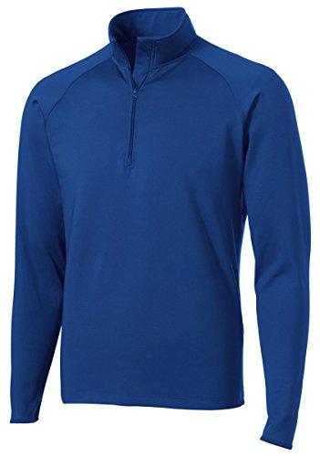 Sport-Tek Men's Sport Wick Stretch 1/2 Zip Pullover XL True Royal by Sport-Tek