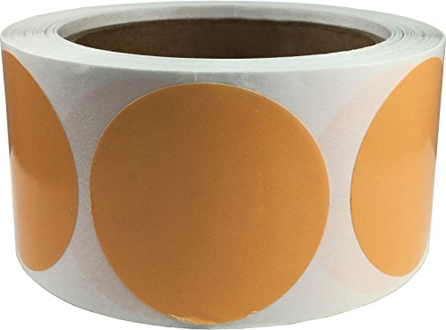 Peach Color Coding Labels for Organizing Inventory 2 Inch Round Circle Dots 500 Total Adhesive Stickers On A Roll (Peach Label)