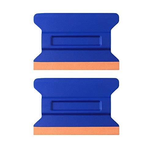 Car Vinyl Tint Squeegee Durable Car Bondo Decal Vinyl Wrap Window Tint Application Tool Set of Soft Felt for Edge Scraper 4.33 Inch - Pack of 2