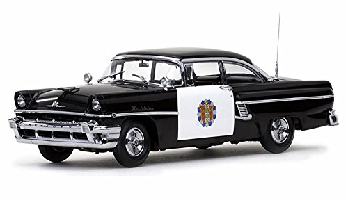 Mercury Police Car - 1956 Mercury Montclair Police Car, Black - Sun Star 5146 - 1/18 Scale Diecast Model Toy Car