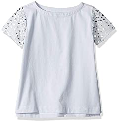 Girls' Sequin Sleeve Tee