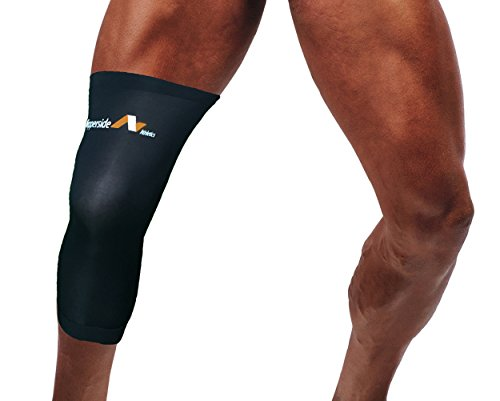 Copperside Athletics Premium Copper Compression Knee Sleeve - GUARANTEED Recovery & Healing-Performance for Muscle and Joint Support - Top Notch Quality-Comfortable to Wear - Not a Tommie Brace