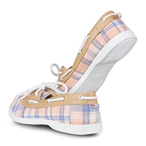 Twisted Frauen Bonnie Casual Fashion Bootsschuh Pfirsich Plaid
