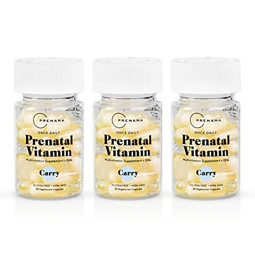 Premama Prenatal Vegan Vitamin Capsules   DHA Iron Folate Fertility Support Vitamins   Non GMO, Gluten Free, Vegetarian…