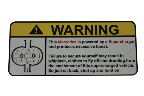 - Mercedes Warning Supercharger, Warning decal, sticker