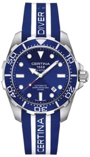 Certina - Wristwatch, Analog automatico, Caucciu, Men