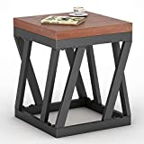 Cheap Tribesigns Rustic End Table, Vintage Chair Side Table Nightstand for Living Room, Bedroom, Entryway (Rustic)