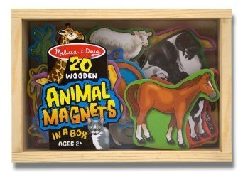 Magnetic Doug Animal (Melissa & Doug 20 Wooden Animal Magnets in a Box)